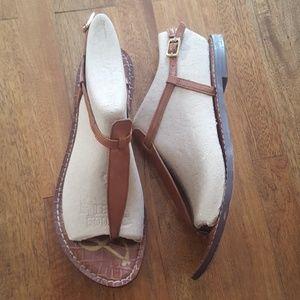 Sam Edelman Gigi Leather Thong Sandals Saddle